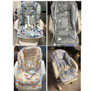 訂做搖搖椅座墊-棉質.多款多色.多型號. combi aprica AING 兒童餐椅墊 寶寶椅套