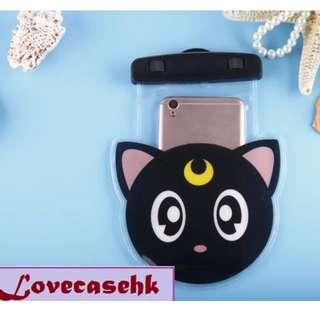 手機防水袋(尺寸5.5寸內都可用) :  美少女戰士露娜貓圖案
