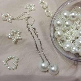 pearl diamond ear ring