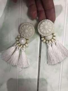 "REPRICED!! ""H&M"" chunky angel earrings"