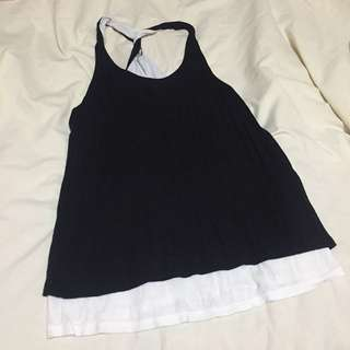 Forever 21 Black Tank Top with White Inner Lining