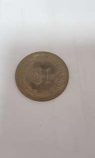 1969 Sg $1 Coin