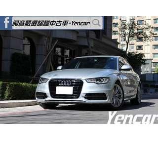 FB搜尋【阿彥嚴選認證車-Yencar】'14年Audi A6 2.0TDI 、進口車、可全貸、中古車、二手車