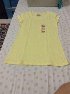 plain yello tshirt