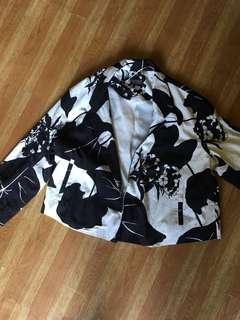 Topshop printed blazer