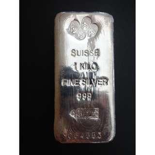 A23--1 Kilo 999 Fine Silver.