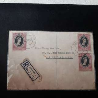 Singapore 1953 First Day cover