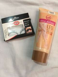 Take both for 100 Ever Bilena Leg Make Up and Fashion Lashes