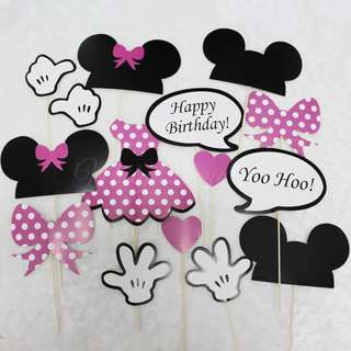 Minnie Happy Birthday Photo Booth Props Set of 15