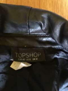 Topshop Blazer with leather lining