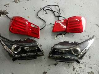 Head lamp and tail lamp for chevolet Cruze