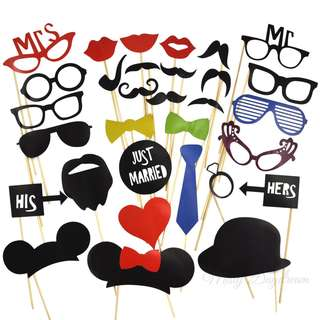 MR And MRS Set of 31 Photo Booth Props