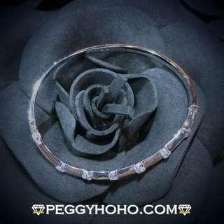 【Peggyhoho】全新18K白金80份真鑽石手厄|經典系列|大睇靚石鑽石手厄