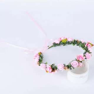 Wreath#Fashion girl Flower Wreath Crown Headband Floral Garlands Hair band # Premium Flower anadem , wreath, floral corolla