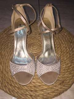 Rusty Lopez Nude With Rhinestones Formal Sandals size 40