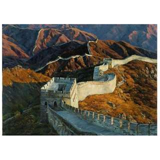 Great Wall Dark Oil Painting Framed