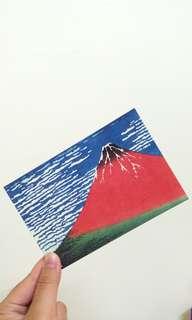 滿100元可免費索取  富士山明信片