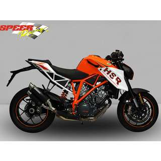 BODIS Exhaust for KTM 1290 SUPER DUKE R 2014-2016 GPX2 Stainless Steel Black (LTA APPROVED)
