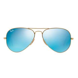 Ray Ban Aviator Sunglasses Reflective Blue Lens