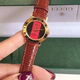 GUCCI LEATHER WATCH