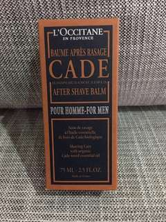 Brand new L'Occitane Cade After Shave Balm for Men