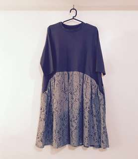 Charity Sale! Authentic Muiccia Korean Style Loose Flowy Women's Dress with Pockets size L-XL vintage style dress Victorias