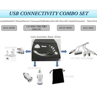 7-IN-1 USB CONNECTIVITY COMBO SET