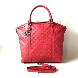Preloved Gucci Alma GM leather SHW