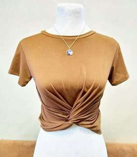 Tracey twisted crop top