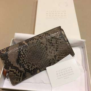 Maison Martin Margiela Python Print Leather Wallet