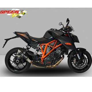 BODIS Exhaust for KTM 1290 SUPER DUKE R 2014-2016 GP1-RS Stainless Steel Black (LTA APPROVED)