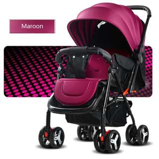 Portable infant deluxe stroller folding aluminum alloy #518-2