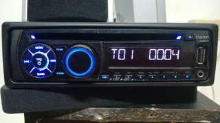 汽車音響 CLARION CZ201A 單片CD/MP3/ 音響 前置AUX USB CD/USB/MP3/WMA_