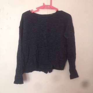 Forever21 knitted blue top