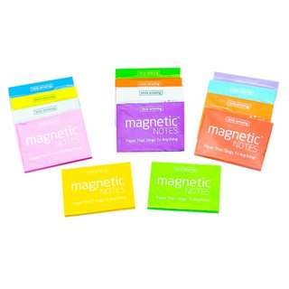 (Small / 100 sheets) MAGNETIC NOTES - Paper that Sticks on to Anything!