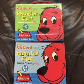 Scholastic Clifford the big red dog phonics reading program