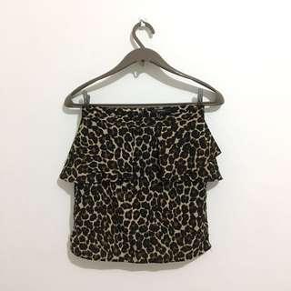 Forever 21 Leopard skirt
