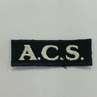 Vintage Anglo Chinese Primary School (ACPS) School Badge