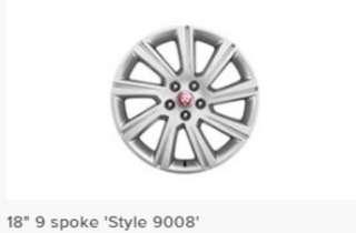 Brand new Jaguar 18 inch stock rims & tyres (set of 4) at super discount