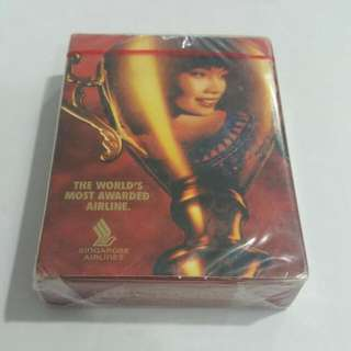 Vintage Singapore Airlines SQ SIA Playing Cards