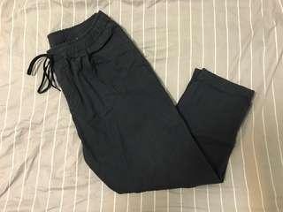 🚚 深藍日系九分寬褲 日本購入