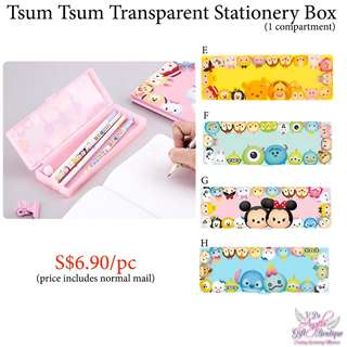 Tsum Tsum Transparent Stationery Box