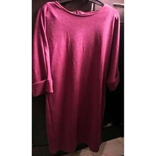 Maroon Dress - Affordable Plus Size