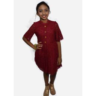 Cotton lace empire dress