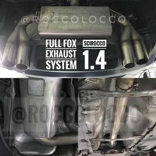 Scirocco 1.4 Fox Exhaust with cert (need swap)