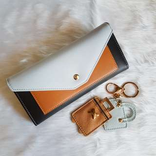 Cute Long Wallet & Keychain Set