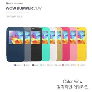 Mercury Goospery Wow Bumper View for Samsung Galaxy S5 I9600