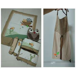 Baby Cot Sheet & Bumper Complete Set (2 sets bundle)