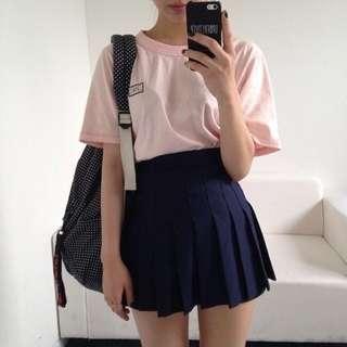 American Apparel Tennis Skirt Navy XS