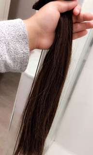 100% human clip in hair extensions 9 Piece